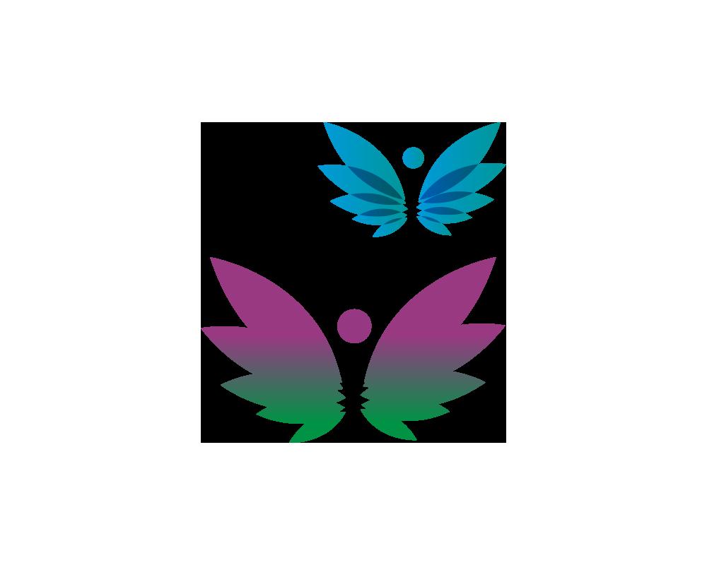 Logo papillons